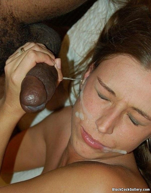 Swallowing a lot of cum from black cocks tmb