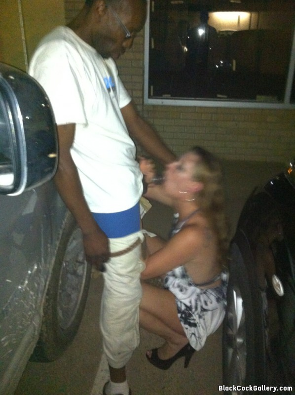 White girl submits to sexual advances of a black dude